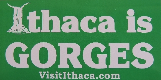Ithaca is Gorges bumper sticker