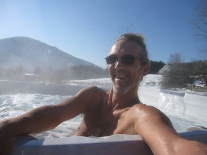 Andy hot tub selfie