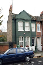 Cranbury Road Studio exterior -- an ordinary old row house in Fulham